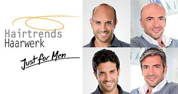 Heren pruiken echt haar - Just For Men